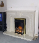 Illusional fireplace