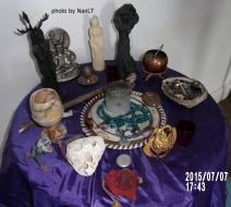 altar to herne and brigid